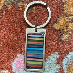 Multi-colored Stripe Keychain